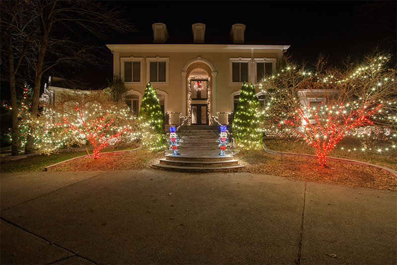 Holiday lighting design ideas themed holiday outdoor lighting we even offer a wide menu of holiday themed roofline lighting everything from snowflakes to bells and bows if you can dream it we can bring it to life mozeypictures Image collections