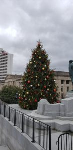 Christmas tree at Nashville's Capitol