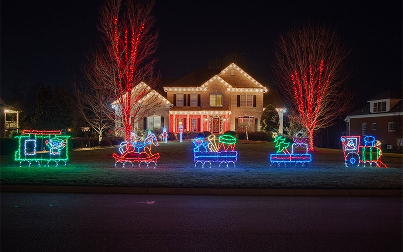 Holiday Lighting Design Ideas Themed Outdoor